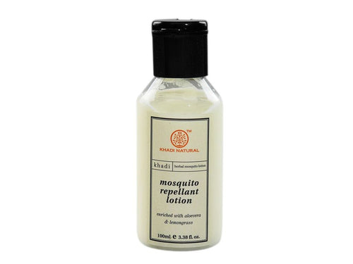 Khadi Mosquito Repellant Lotion Enriched With Aloevera & Lemongrass 100 Ml