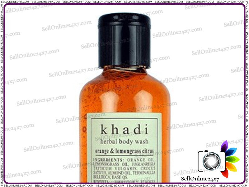 100% Pure Ayurvedic Orange & Lemongrass Herbal Body Wash Suitale For Oily Skin