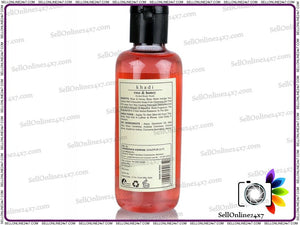 100% Pure Khadi Rose And Honey Herbal Body Wash - Sls & Paraben Free – 210 Ml
