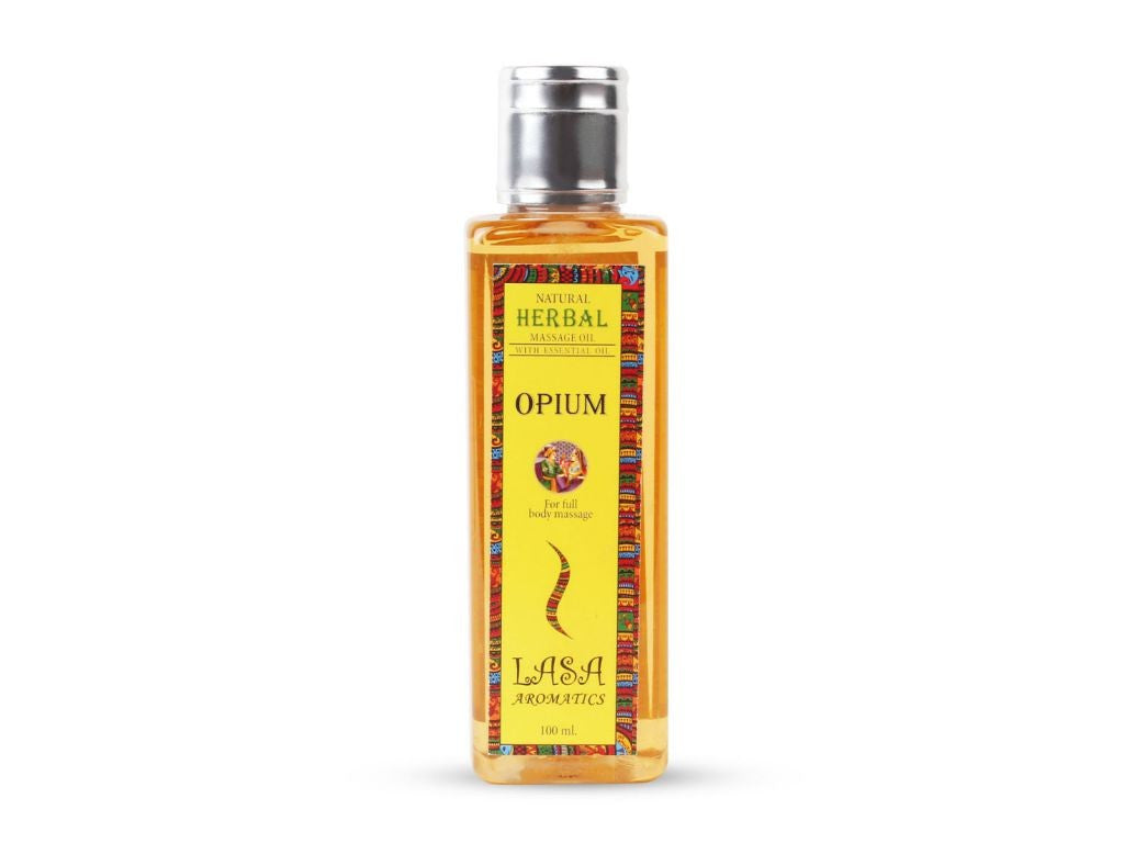 100% Pure And Natural Opium Massage Oil With Essential Oil -100 Ml