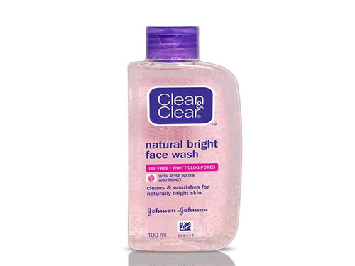 Clean & Clear Natural Bright Facewash Helps Skin To Look Gorgeous And Naturally 100ml