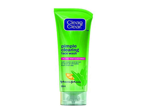 Clean & Clear Pimple Clearing Face Wash, 80g For Pimple & Soft Skin