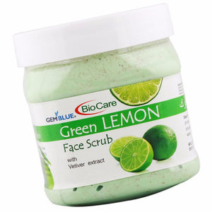 BioCare Face Scrub Green Lemon 500ml- Lemon Peel And Vetiver Extracts