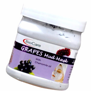 Biocare Grapes Mud Mask 500Gm For Leaving Skin Radiant And Refreshed