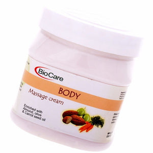 Biocare Body Massage Cream With Almond, Olive & Carrot Seed Oil 500ml