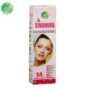 BIO CARE Bio Sindhura HERBAL FACE CREAM -Fairness And Resolve Skin Problems-25G
