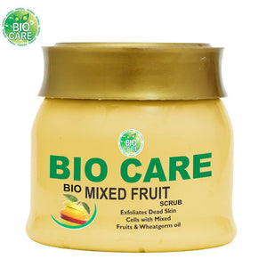 BIO CARE BIO MIXED FRUIT SCRUB- Great For The Skin-500 Gms