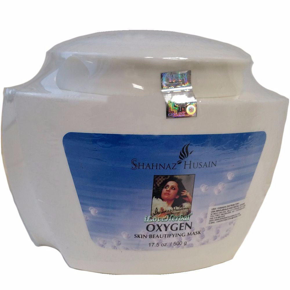 Shahnaz Husain Oxygen Skin Beautifying Mask-Aqua / Water, Gulab Ark-500GM