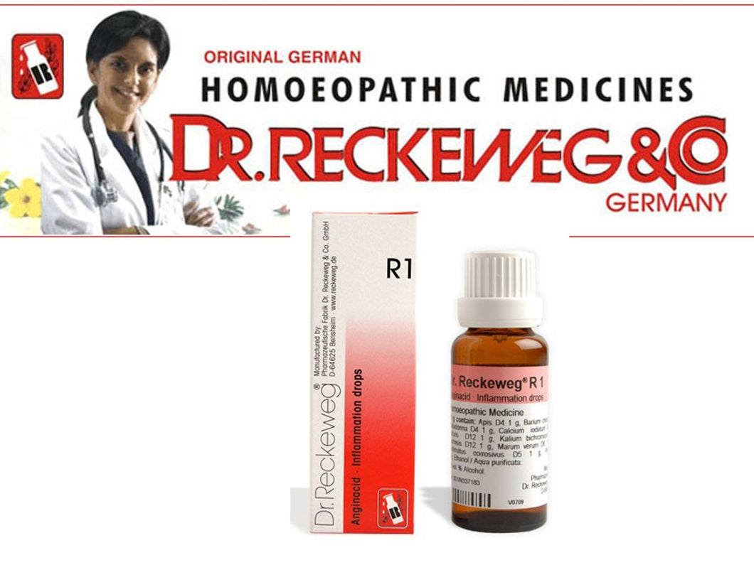 Dr Reckeweg Germany R1 Drops Homeopathic Medicine Inflammation Fever Swelling|