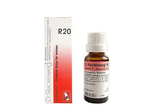 Dr Reckeweg Germany R20- Euglandin F Glandular Drops For Women 22ml
