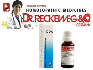 Dr Reckeweg Germany R26 Draining and Stimulating Drops Homeopathic Medicine