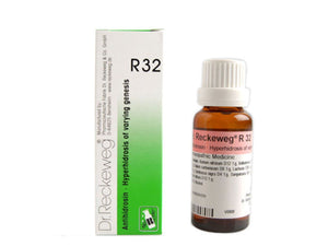 Dr Reckeweg Germany R32 Excessive Perspiration Drops Homeopathic Medicine