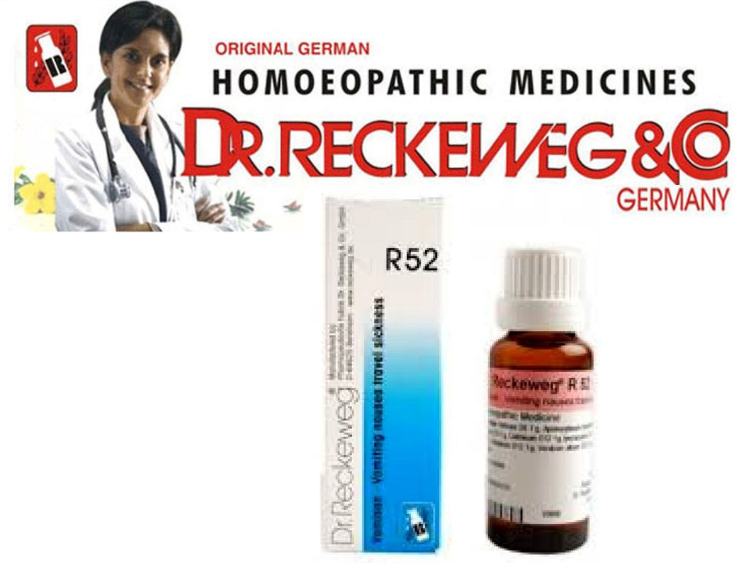 Dr Reckeweg R52 Drops Homeopathic Medicine Vomiting, Nausea and Travel Sickness