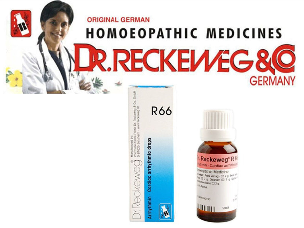 Dr Reckeweg Germany R66 Irregular Heart Beat Drops Homeopathic Medicine 22ml