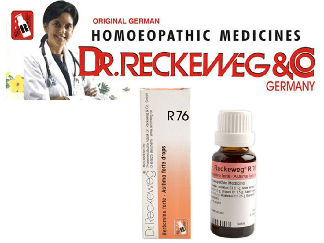 Dr Reckeweg Germany R76 Asthma Forte Drops Homeopathic Medicine 22ml