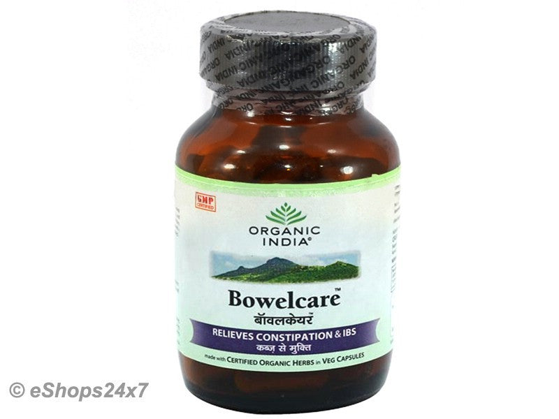 Organic India Bowel Care Herbal Indigestion Constipation Gas Problem - 60 Caps