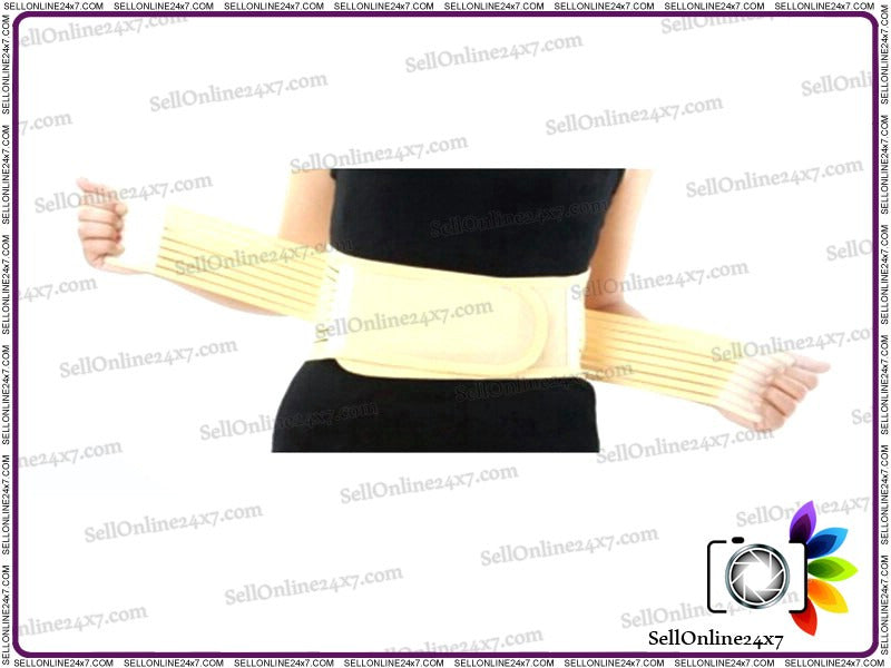 Heating Magnet Waistband Belt for Lumbar Disc Girdle Size-S/M/L - Portable Self