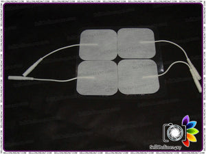 (4 Pcs) Square Tens Electrode Pads Reusable For Tens Machines - Self Adhesive