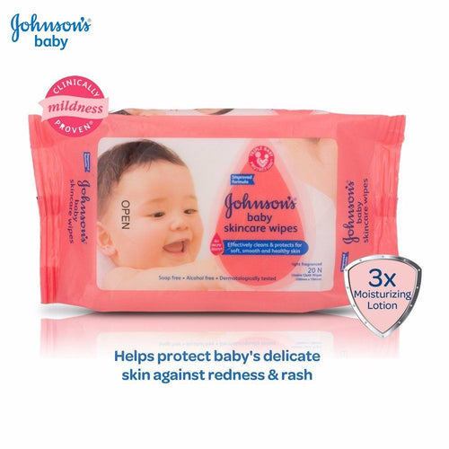 Johnson's Baby Skincare Wipes -10, 20 Pieces Baby Care Skin Cleansing