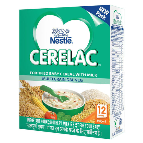 Nestle Cerelac Fortified Baby Cereal With Milk Multi Grain Dal Veg - 300 Gms