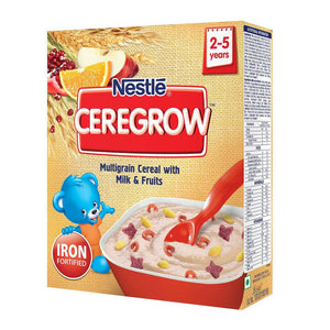 Nestle Ceregrow Multigrain Cereal with Milk & Fruits 300 Gms