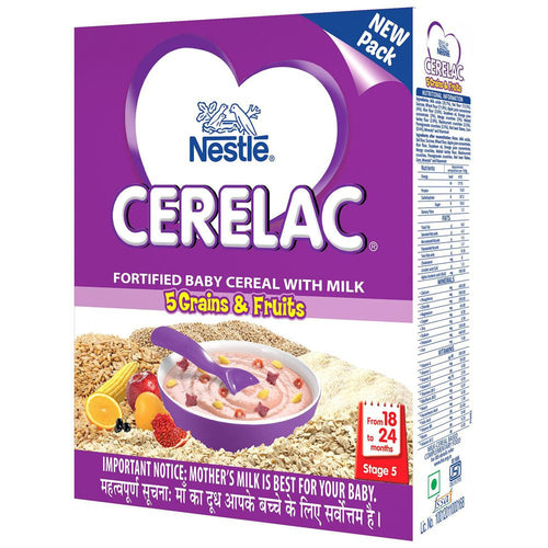 Nestle Cerelac Infant Cereal 5 Grains & Fruits Stage 5 - 300 Gms