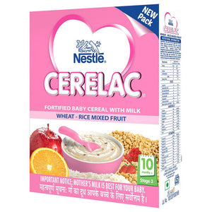 CERELAC Infant Cereal Stage-3 Wheat-Rice Mixed Fruit 300 Gms