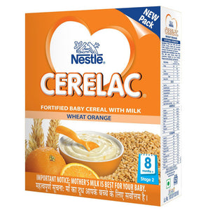 Nestlé Cerelac Infant Cereal Stage-2 (8 Months-24 Months) Wheat Orange 300 Gms