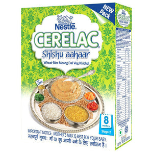 Nestle Cerelac Wheat Rice Moong Dal Veg Khichidi Stage 2 300 Gms good  For Babies health