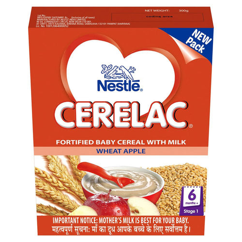 Pure Nestlé Cerelac Infant Cereal Stage-1 (6 Months-24 Months) Wheat Apple 300 Gms