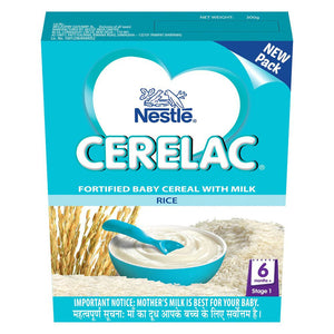 100% Good Nestlé Cerelac Infant healthy  Cereal Stage-1 Rice 300 Gms For Babies