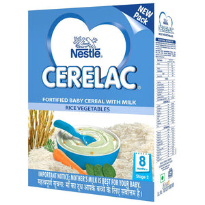 100% Original Nestlé CERELAC Infant Cereal Stage-2 Rice Vegetables 300 Gms For Babies