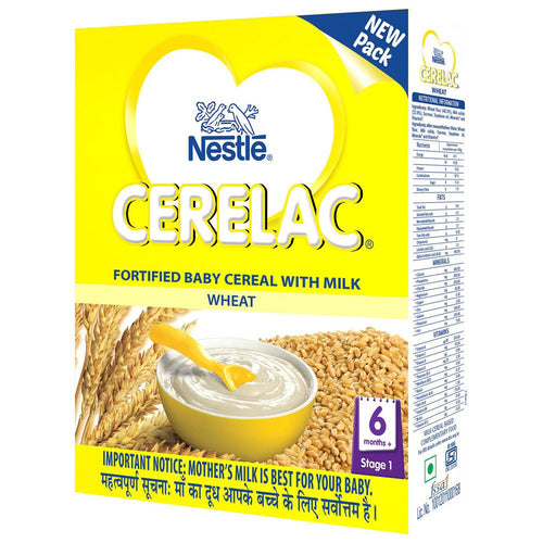 Nestle Cerelac Stage 1 Fortified Baby Cereal Wheat  300Gms Useful For Babies Health