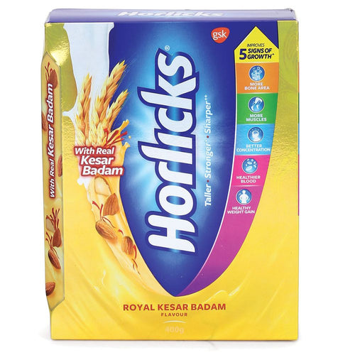 Horlicks Kesar Badam 400 Gms Refill Pack  For child's health