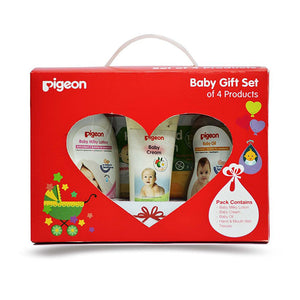 Pigeon Baby Gift Set Multi color (Pack of 4) For Baby Skin Care