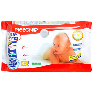 Natural Pigeon Hand & Mouth Wipes 80 Pcs For Baby Skin