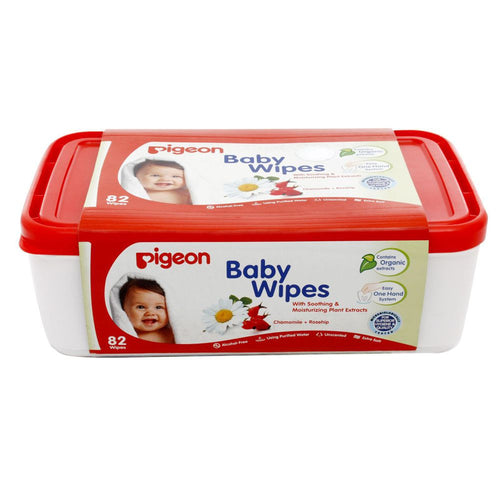 Pigeon Hand & Mouth Wipes For Baby Skin Prevents Baby Skin From Rashes-82 Pieces