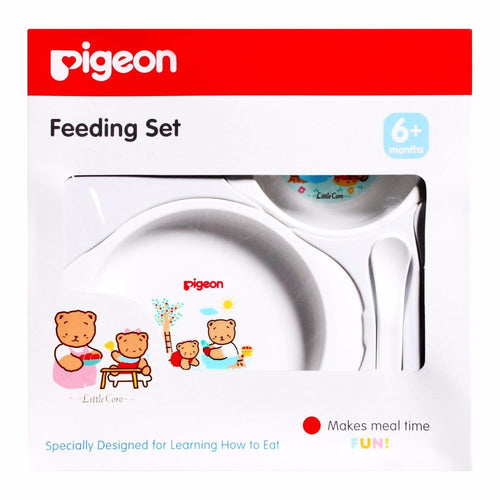 Pigeon - Feeding Set Makes Feeding Easy Fit Baby's Mouth Comfortably And Safely