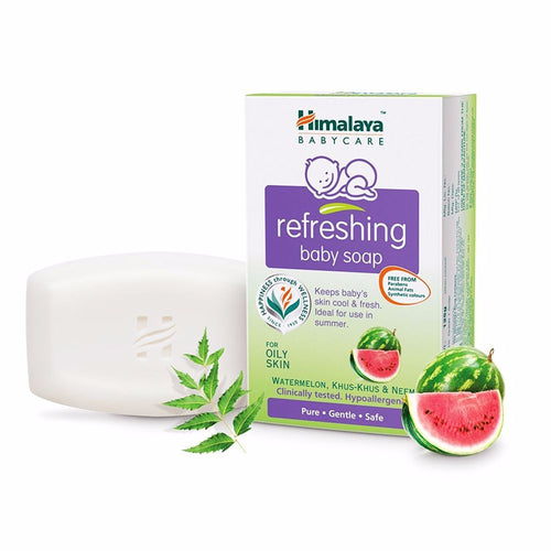 Himalaya Refreshing Baby Soap Watermelon-75gm For Baby Bath Care