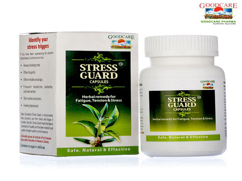 GoodCare Stress Guard -100% Ayurvedic Herbals- 60 Capsules Available