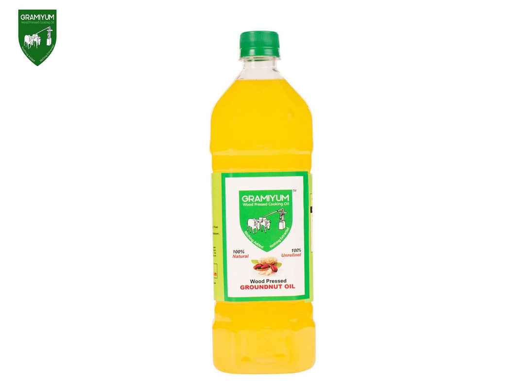 GRAMIYUM Groundnut Oil (Cold Pressed)- 2 Litre Available