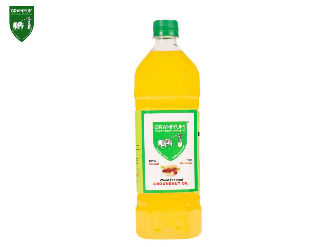 GRAMIYUM Groundnut Oil (Cold Pressed)- 4 Litre Available
