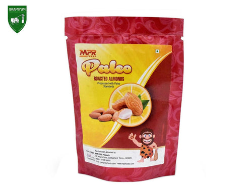 Gramiyum MPR Paleo Roasted Almonds (Badam)- 200Gm Available