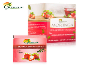 New 100% Moringa Strawberry Tea - 20 Tea Bags - Grenera Organics-HealthCare