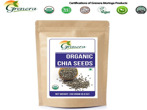 100% Natural Grenera Organic Chia Seeds -Pure Natural Herbals -250gm