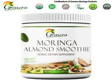 100% Natural Grenera Pure Organic Moringa Almond Smoothie - 240Gms Jar