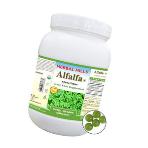 Herbal Hills Alfalfa 900 Tablets Value Pack For Healthy Cholesterol Levels