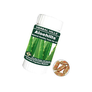 Herbal Hills Aloehills Ayurvedic 60 Capsules Healthy Tonic For Blood Purifier