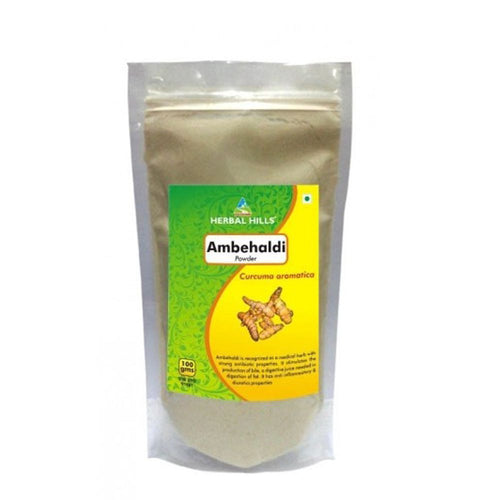 Herbal Hills Ambehaldi Powder 100gm For Natural Removal Of Toxins From The Body