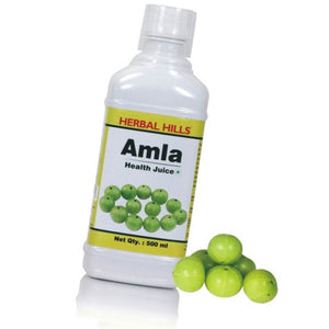 Herbal Hills Amla Health Juice - 500ml For Eyes And Skin Rejuvenate The Body